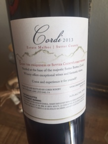 Cordi Winery Malbec